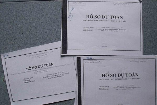danh mục hồ sơ quyết toán công trình
